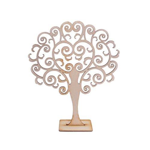 Search box portagioie in legno a forma di albero espositore organiser/laser cut/20x 0.3x 25.5cm