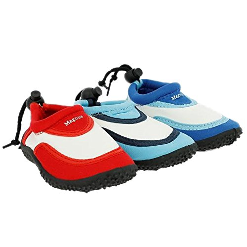 Buyazzo , Chaussures spécial piscine et plage pour garçon bleu clair