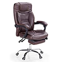 ADHKCF High Back Racing Style Gaming Computer Desk Chair Faux Leather Swivel Office Chair Well Padded Footrest And Lumbar Cushion