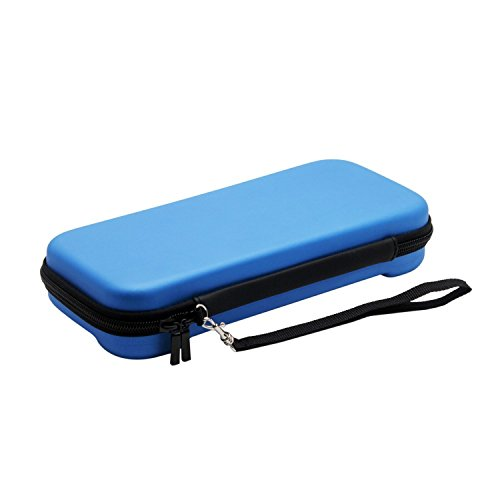 QQPOW Carry Case Juego Travel Deluxe Travel Case Traveller Hard Case por Nintendo Switch Game Traveler Deluxe Travel Case(AZUL)