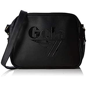 Gola Redford Tournament - Borse Messenger Unisex Adulto, Nero (Black/Black)