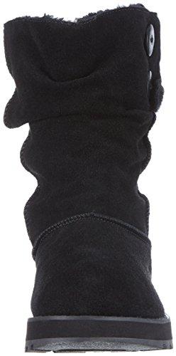 Skechers Keepsakes Temps Froid Femmes Casual Bottes Slip On Daim Décontractées, Noir, UK 8 EU 41 Noir