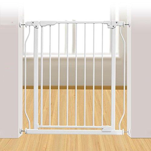 Super Breites Justierbares Haustier-Tor-Metallhaustier-Tür Für Katzen-Hundeweiß-Zaun Für Haus-Eingang Treppen-Druck-Berg-System (größe : 73-78CM) -