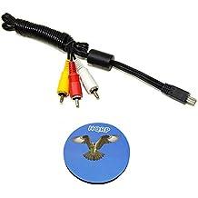 HQRP Cavo AV Mini USB a 3 RCA per Canon PowerShot SD1200 IS/SD1300 IS/SD1400 IS/SD3500 IS/SD770 IS/SD780 IS/SD790 IS