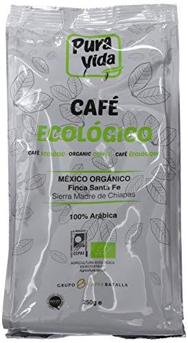 Pura Vida Café Ecológico Natural Molido - 4 Paquetes de 250 gr - Total: 1000 gr