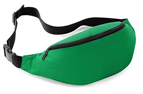 DATO Unisex Gürteltasche Klein Wasserdicht Sport Multifunktions Nylon Bauchtasche Tasche Hüfttasche Joggen Sport Gürtel Hip Pack BagBase DunkelGrün