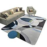Nordic Unregelmäßiges Muster Teppich Rechteckiges Wohnzimmer Großen Teppich, Sofa Couchtisch Rutschfeste Matte Home Falttür Matte (größe : 100×150cm)