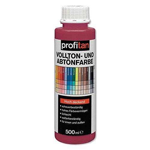 ROLLER profitan Vollton- und Abtönfarbe - Weinrot - 500 ml