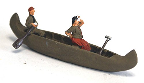 Langley Models kanadisches Kanu + 1 Paddler / Schwitzen OO Skala UNLACKIERT Kit - Model Das Kanadische