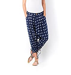 Desi Weaves Stylish Big Motif Twig Printed Cotton Jodhpuri Pants