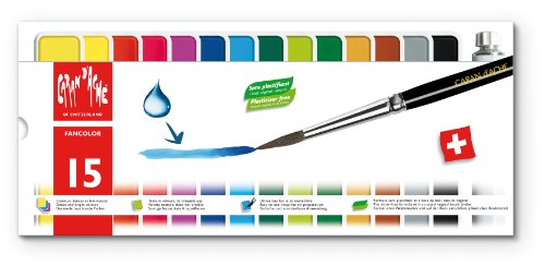 15 color set 1000-715 Caran d'Ache fan color solid color cake watercolors (japan import)