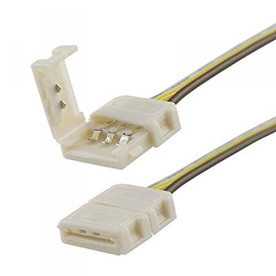 Isolicht Flexband Clip-Kabelanschluss 3-polig, weiss für Breite 10mm