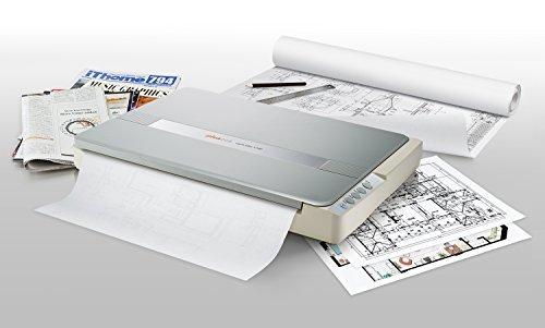 Plustek A3-Flachbettscanner OS1180, für A3-Grafiken und Dokumente Design für Büchereien, Schulen und kleine Büros. Benötigt ca. 9 Sekunden für ein A3-Dokument.
