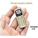 Kechaoda K10 Finger Sized Bluetooth Phone with Single Sim, 0.66 Inch Display, 300mAh Battery, Bluetooth Dialler, Wireless FM