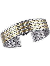 Andre Bracelets de Montres de Luxe pour Dames, Acier Inoxydable Massif  316L, Bicolore Argent 9ec8d12d43c