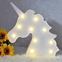 AIZESI Unicorn Light Nights for Lamp Kids LED Lights Marquee Baby Party Wall Battery Operated Lighting Lamp