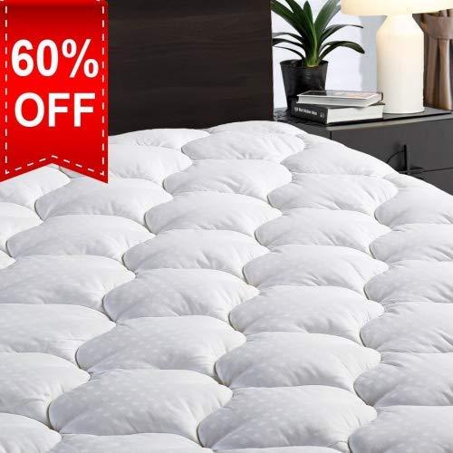 LEISURE TOWN könig matratze pad Abdeckung kühlmatratzenauflage Cotton top Pillow top mit Schnee down alternativ Fill (21.8