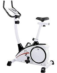 Christopeit AL 1 - Bicicleta (Magnético, Negro, Color blanco, Calorías, Monitor, Velocidad, Tiempo)