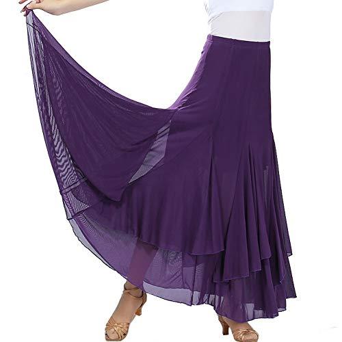 Hongyuangl Frauen Tanzen Rock Swing Kleider Performance Outfits Rock Festival Kleidung für Bauch/Latin/Ballsaal/Moderner Tanz Flamenco-outfits