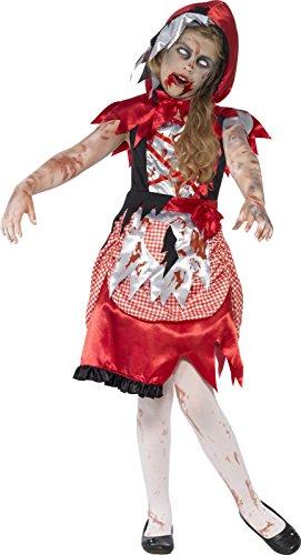 Smiffys Kinder Zombie Miss Hood Kostüm, Kleid und Kapuzencape, Größe: S, (Red Für Kinder Hood Riding Kostüm)