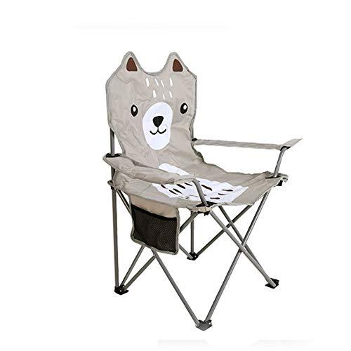 ZSLLO Campingstuhl Grauer Outdoor Klappstuhl niedliche Skizze Stuhl tragbare Camping Freizeit zurück Hocker rutschfeste Angelstuhl leicht zur Lagerung Reinigung Klappstuhl
