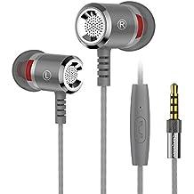 Langsdom M400 Metal In-Ear, Auriculares Estéreo y Graves con Control y Micrófono para