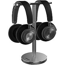 Jokitech Single Dual Universal Universal para auriculares. Soporte genérico para auriculares Soporte para juegos de todo tamaño. Audífonos y auriculares de audio (Spacegrey)