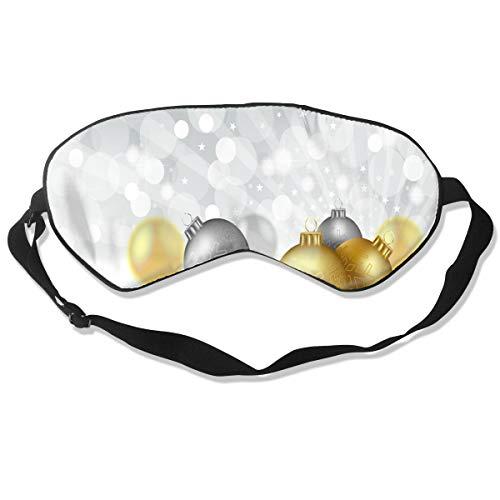 Wrution - mascherina per occhi di natale, con immagine vettoriale, con cinghie regolabili, super morbida, per donne e uomini