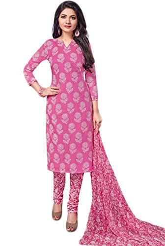 Salwar Suits For Women (Manmandir's Pink Cotton Dress Material)