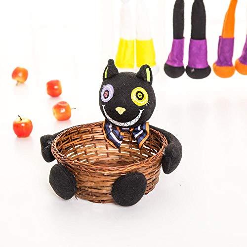 rbis Candy Party Korb Halloween Süßigkeiten Deko Party, schwarz ()