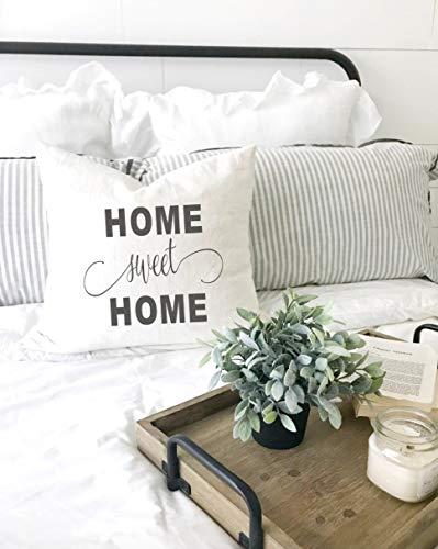 Estherbur87 - federa per cuscino con scritta home sweet home, 45 x 45 cm
