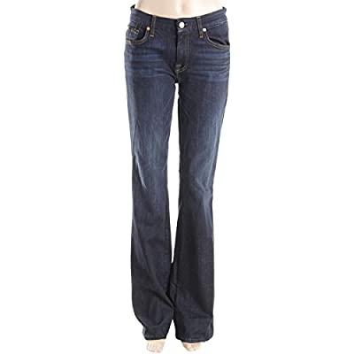 7 For All Mankind Womens A Pocket Slim Illusion 5-Pocket Flare Jeans