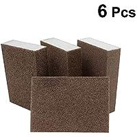 OUNONA - 6 Almohadillas abrasivas de Esponja de Lijado para Muebles, Suelo, molienda de Cocina, Herramienta de Limpieza de Mano 100 x 70 x 25 mm