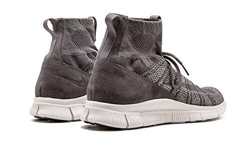 Nike Free Flyknit Mercurial, Scarpe da Calcio Uomo, Grigio Vari colori (grigio/bianco (Dark Grey/Wolf Grey-Smmt White))