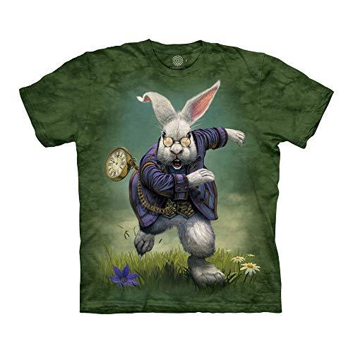 The Mountain Unisex-Erwachsene White Rabbit T-Shirt, grün, 5X-Groß -