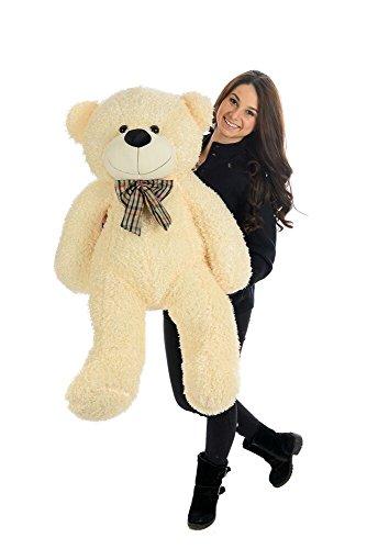 large-teddy-bear-handmade-soft-white-cream-plush-polar-i-love-you-u-panda-toy-stuffed-enormous-gift-