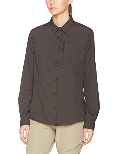 Fjällräven Damen Abisko Hike Shirt LS W Langarmhemd, Dark Grey, L