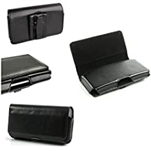 DFV mobile - Belt Cover Premium Executive Synthetic Leather Horizontal Design and Clip Metal for => Meizu m2 NOTE > Black