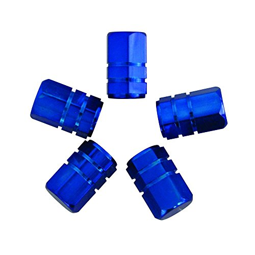 CARPOINT 2216006 Ventilkappen Kolben 5 Stück blau