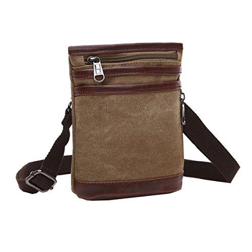 Sacchetto Degli Uomini Yy.f Borsa Di Tela Spessa Diagonale E Piccoli Nuovi Borsa Uomo D'affari Di Modo Sacchetto Pratico Air Bag 3 Colori Brown