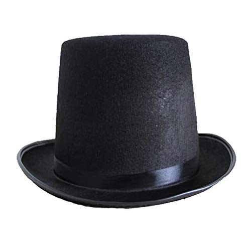 Noradtjcca Top Hat Jazz Hat Halloween Fabricants Accessoires 78g (Grande) Haute 16CM pour Magic Cosplay