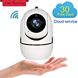 1080P PTZ WiFi IP Camera, Auto Track Wireless Home Indoor Surveillance Security Cam System, Baby/Pet / Nanny/Monitor -Two Way Audio, Motion Detection, Night Vision, iOS/Android App, Cloud Service