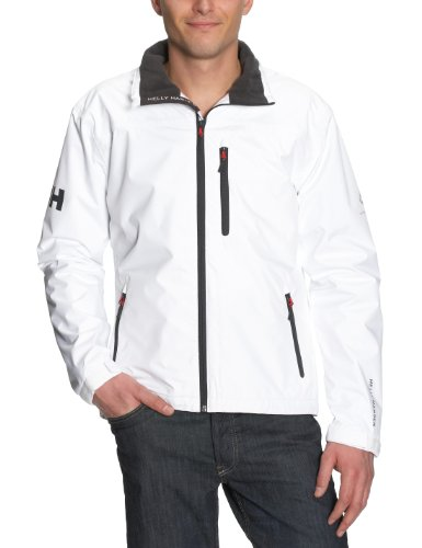 Helly Hansen Men's Crew Midlayer - Chubasquero de náutica, color blanco, talla S