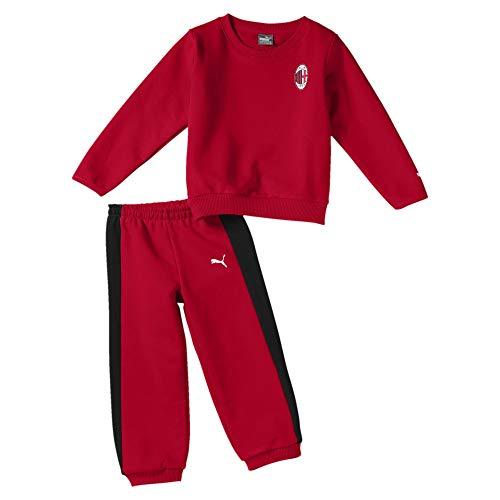 Puma AC Milan Baby Minicats Jogginganzug-Set Tango Red 86 (Puma Trainingsanzug Kleinkind)