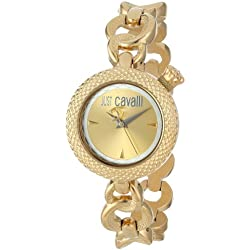 Just Cavalli Ladies Lily Analogue Watch R7253137617 with Quartz Movement, Stainless Steel Bracelet and Gold Dial