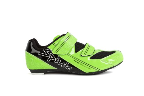 Spiuk Uhra Road - Zapatilla de ciclismo unisex, color verde / negro, talla 40