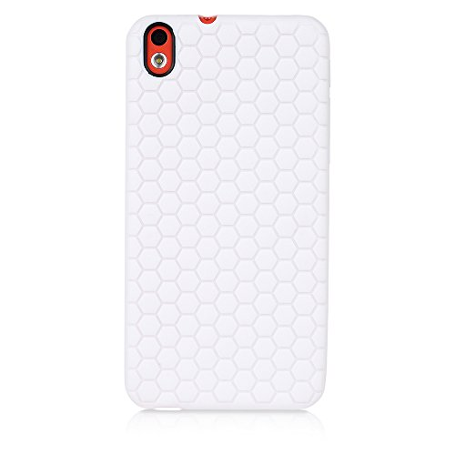 ImagineDesign Premium Beehive HoneyComb Pattern Back Case Cover for HTC DESIRE 816 / 816G (White)