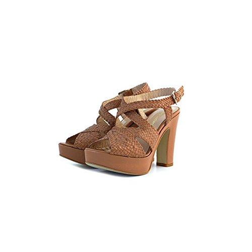 Scarpe sandali, decolte' Chiara Luciani in pelle cuoio, taglia: 36