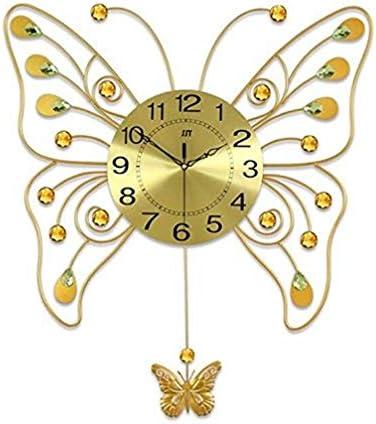 DollylaStore Horloges murales Grand Papillon Art Salon Balançoire Mode créative Moderne Personnalité Décorative Pendentif Chambre Horloge | De Grandes Variétés