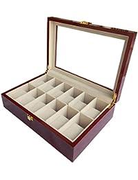 bc88560211f6 Joy Mall Caja para Relojes Almacenaje Estuche Organizadora Porta 12 Reloj  Vitrina Madera